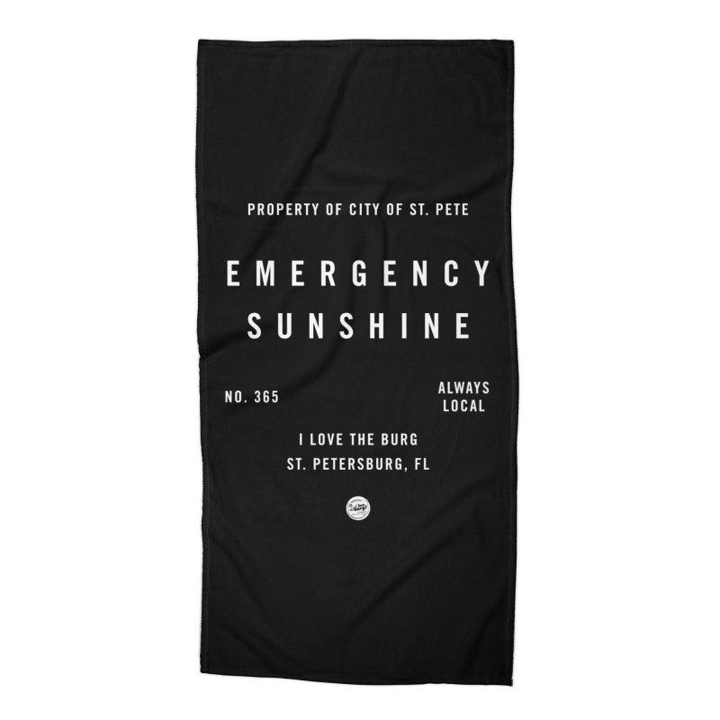 Emergency Sunshine Accessories Beach Towel by I Love the Burg Swag