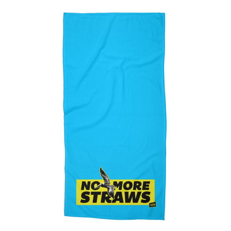 NO MORE STRAWS // In The Burg Accessories Beach Towel by I Love the Burg Swag