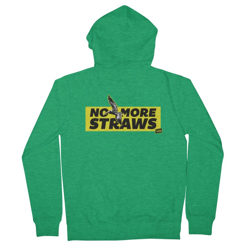 NO MORE STRAWS // In The Burg Women's Zip-Up Hoody by I Love the Burg Swag