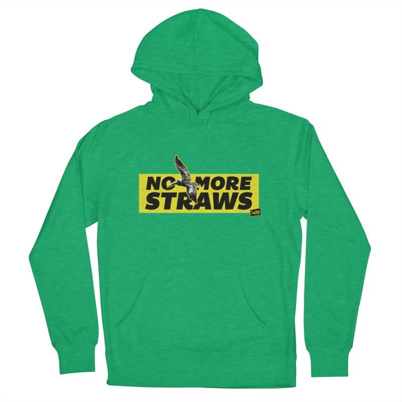 NO MORE STRAWS // In The Burg Women's French Terry Pullover Hoody by I Love the Burg Swag