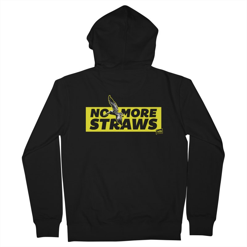 NO MORE STRAWS // In The Burg Women's French Terry Zip-Up Hoody by I Love the Burg Swag