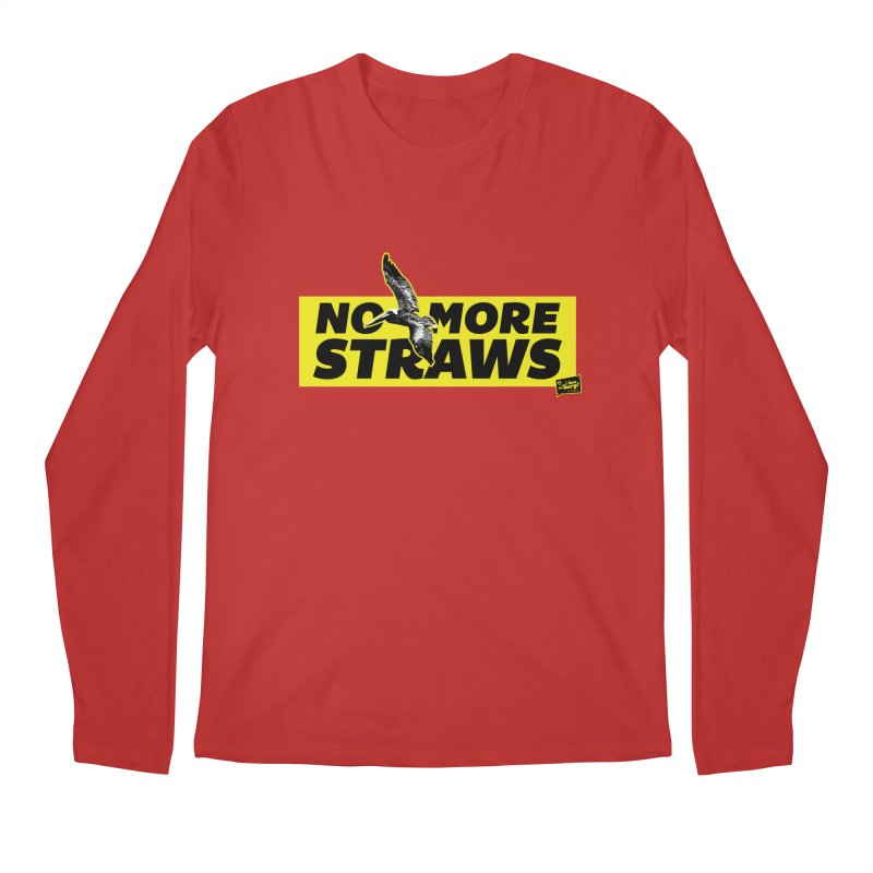 NO MORE STRAWS // In The Burg Men's Regular Longsleeve T-Shirt by I Love the Burg Swag
