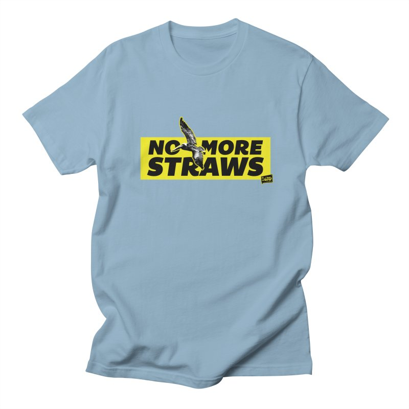 NO MORE STRAWS // In The Burg Women's Regular Unisex T-Shirt by I Love the Burg Swag