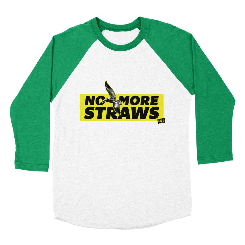 NO MORE STRAWS // In The Burg Men's Baseball Triblend T-Shirt by I Love the Burg Swag