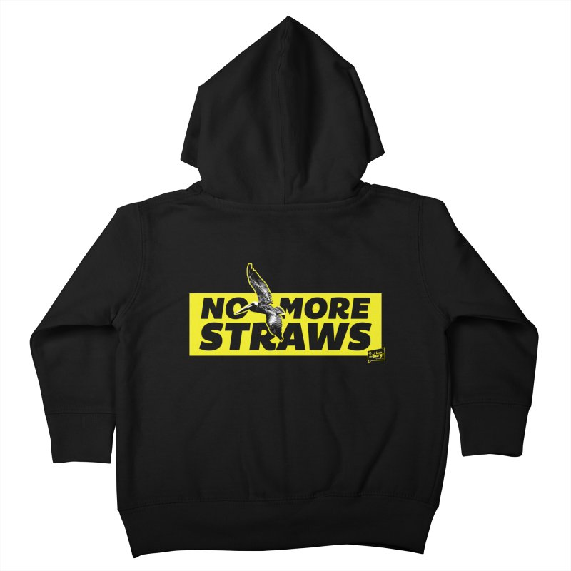 NO MORE STRAWS // In The Burg Kids Toddler Zip-Up Hoody by I Love the Burg Swag