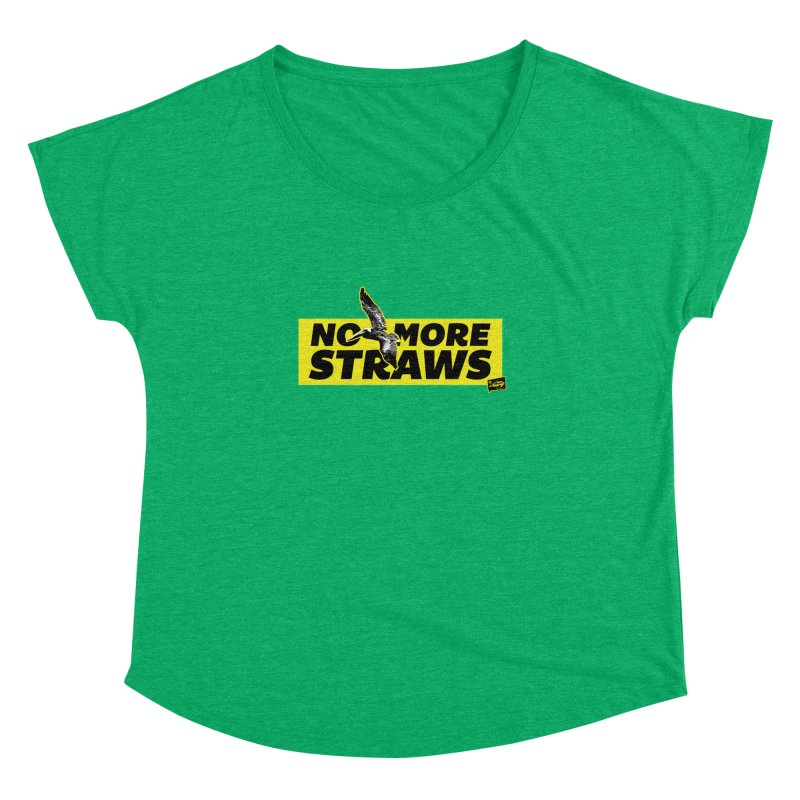 NO MORE STRAWS // In The Burg Women's Dolman Scoop Neck by I Love the Burg Swag