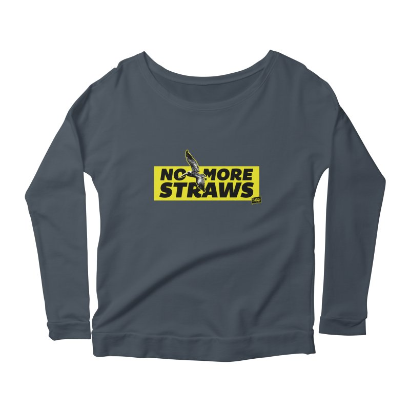 NO MORE STRAWS // In The Burg Women's Longsleeve Scoopneck  by I Love the Burg Swag