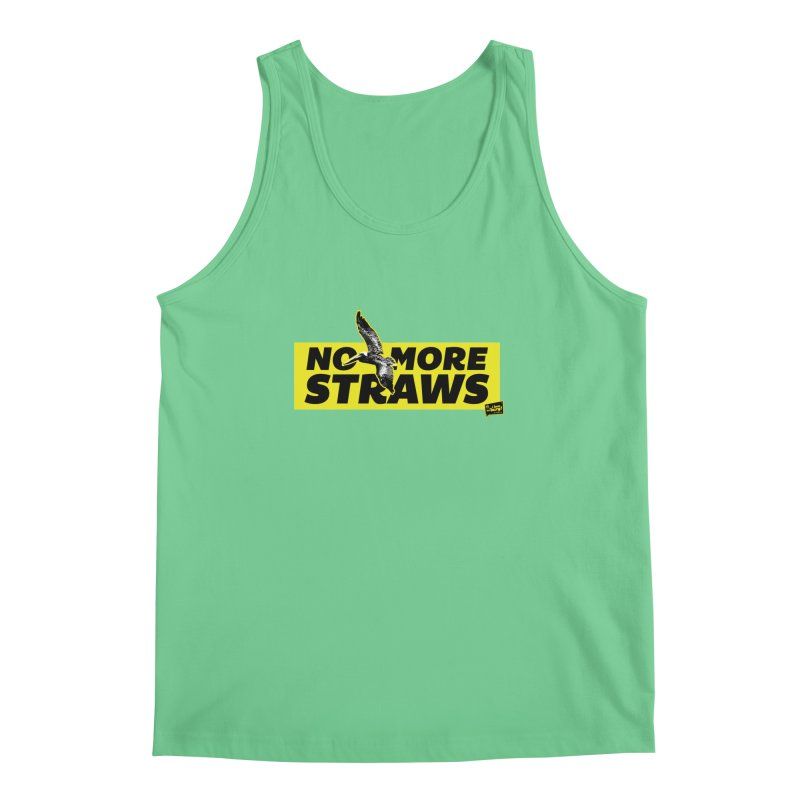 NO MORE STRAWS // In The Burg Men's Regular Tank by I Love the Burg Swag