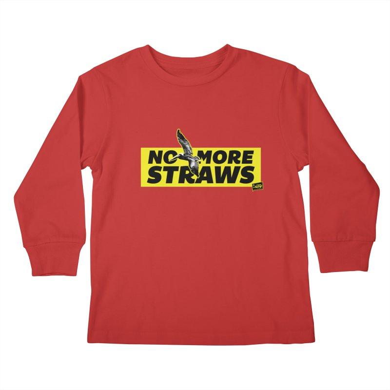 NO MORE STRAWS // In The Burg Kids Longsleeve T-Shirt by I Love the Burg Swag