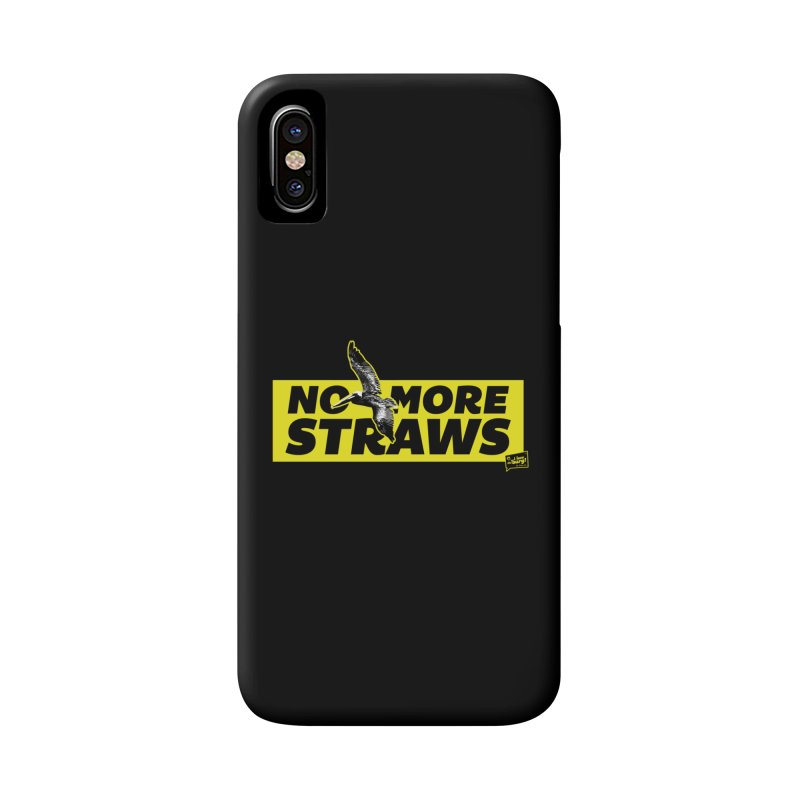 NO MORE STRAWS // In The Burg Accessories Phone Case by I Love the Burg Swag