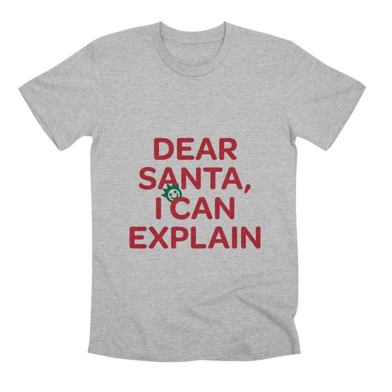 Dear Santa, I Can Explain... Men's Premium T-Shirt by I Love the Burg Swag