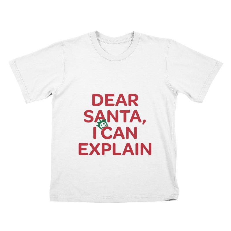 Dear Santa, I Can Explain... Kids T-Shirt by I Love the Burg Swag