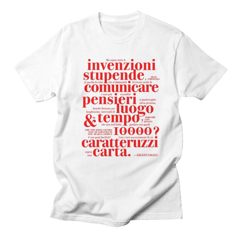 Caratteruzzi / Red on White & Black ed. Men's T-Shirt by ilpiac
