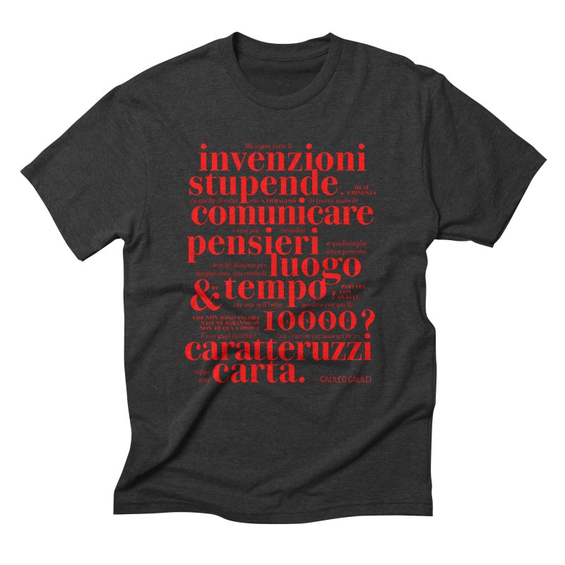 Caratteruzzi / Red on White & Black ed. Men's Triblend T-Shirt by ilpiac