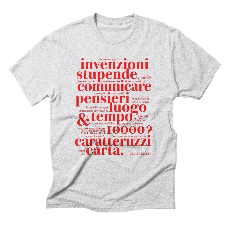 Caratteruzzi / Red on White & Black ed. Men's Triblend T-Shirt by ilpiac