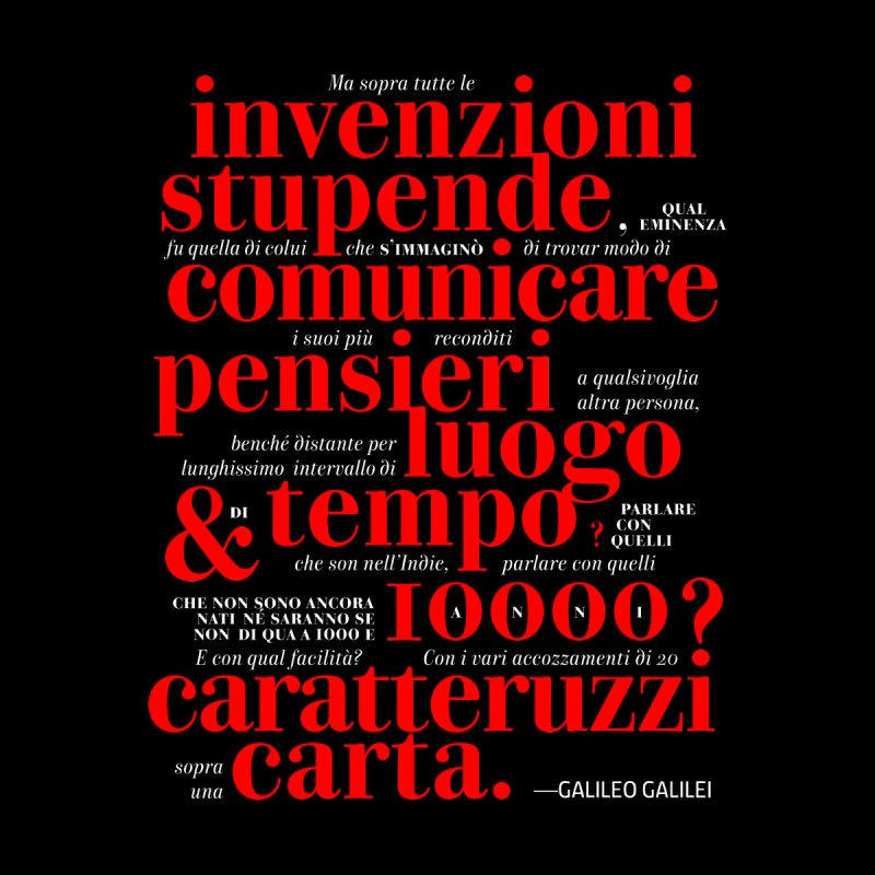 Caratteruzzi / Black ed.  Men's Triblend T-Shirt by ilpiac