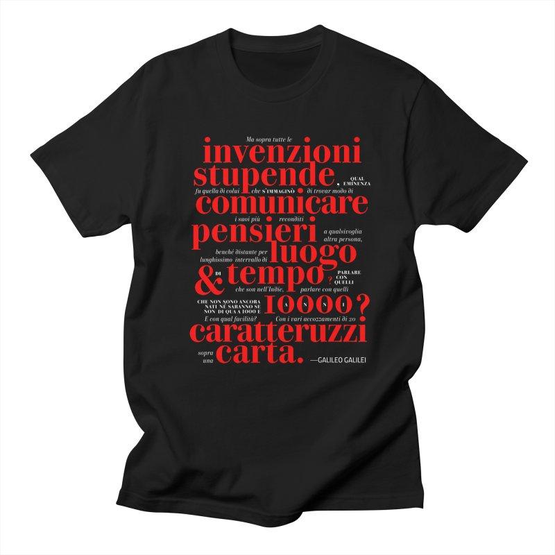 Caratteruzzi / Black ed.  Men's T-shirt by ilpiac