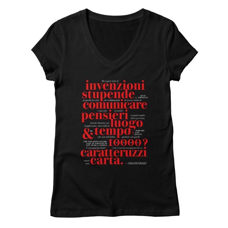 Caratteruzzi / Black ed.  Women's V-Neck by ilpiac