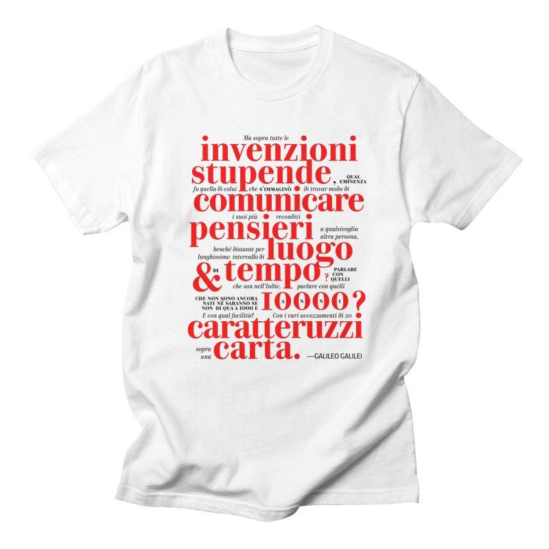 Caratteruzzi / White ed. Men's T-shirt by ilpiac