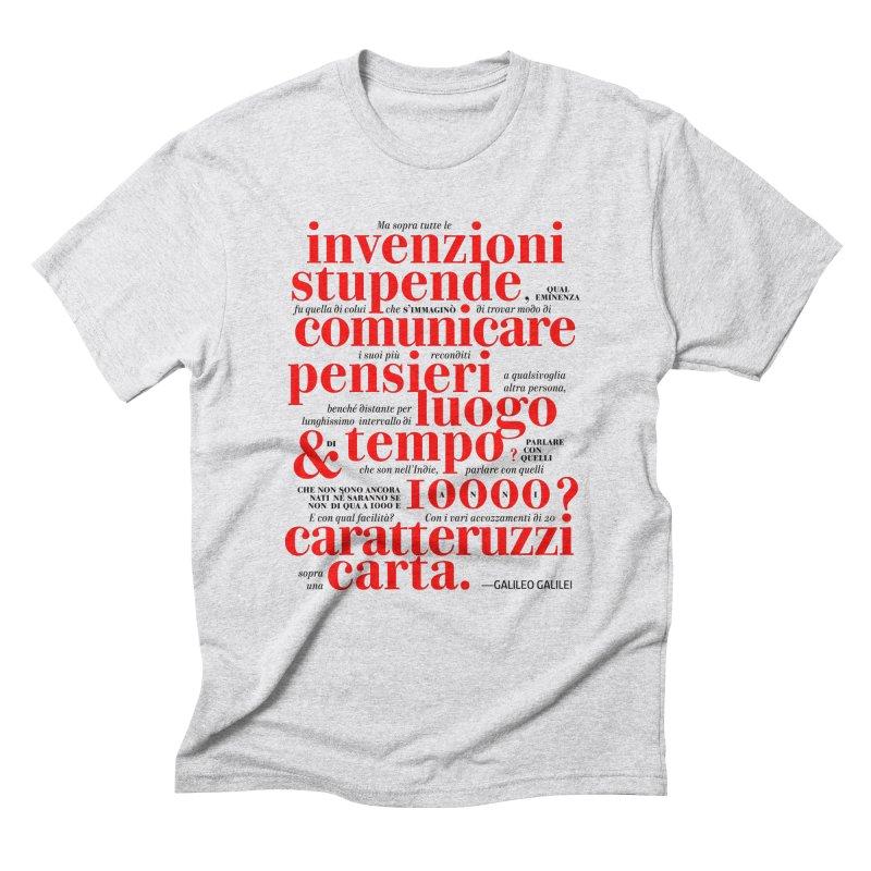 Caratteruzzi / White ed. Men's Triblend T-shirt by ilpiac