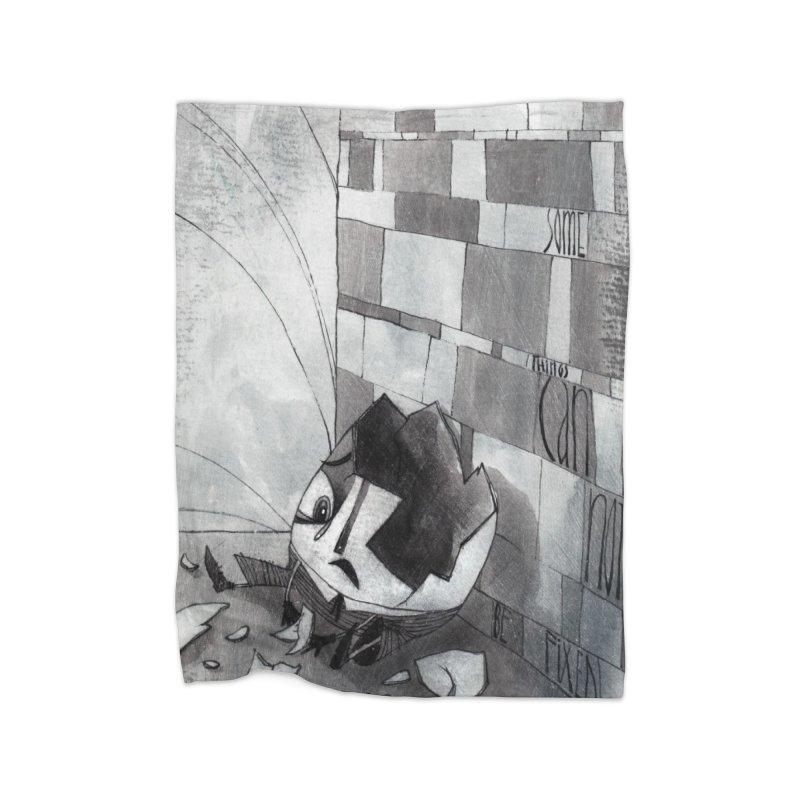 Humpty Dumpty Home Fleece Blanket Blanket by ilustramar's Artist Shop