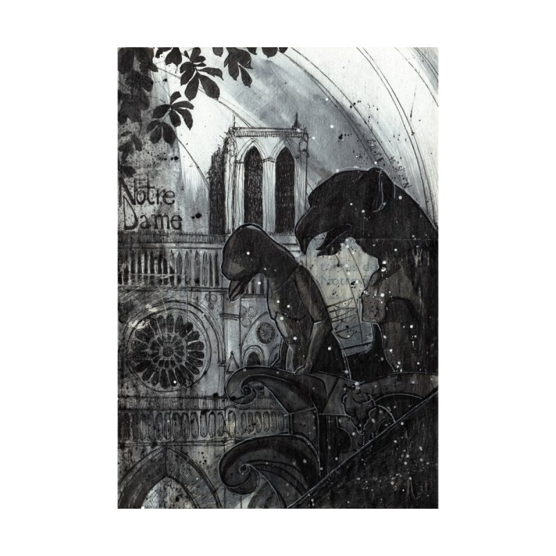 Notre Dame Home Fine Art Print by ilustramar's Artist Shop