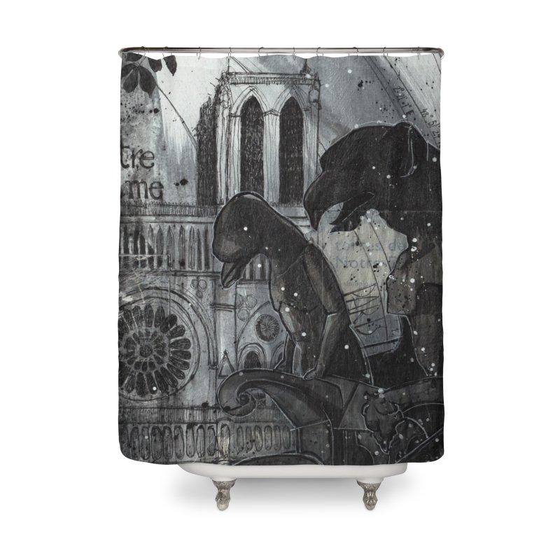 Notre Dame Home Shower Curtain by ilustramar's Artist Shop