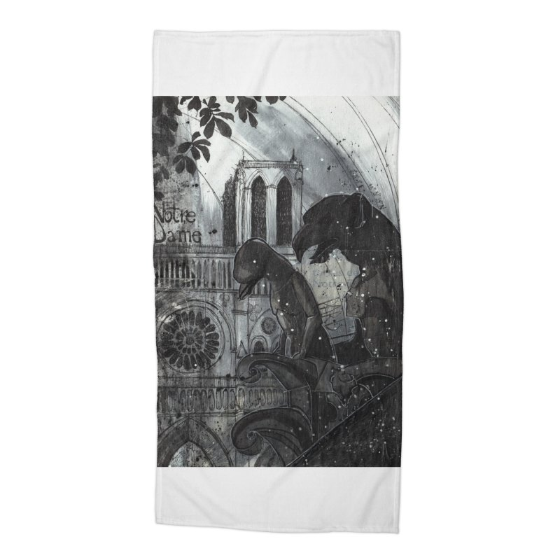 Notre Dame Accessories Beach Towel by ilustramar's Artist Shop