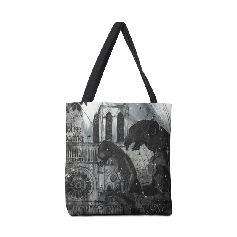Notre Dame Accessories Tote Bag Bag by ilustramar's Artist Shop