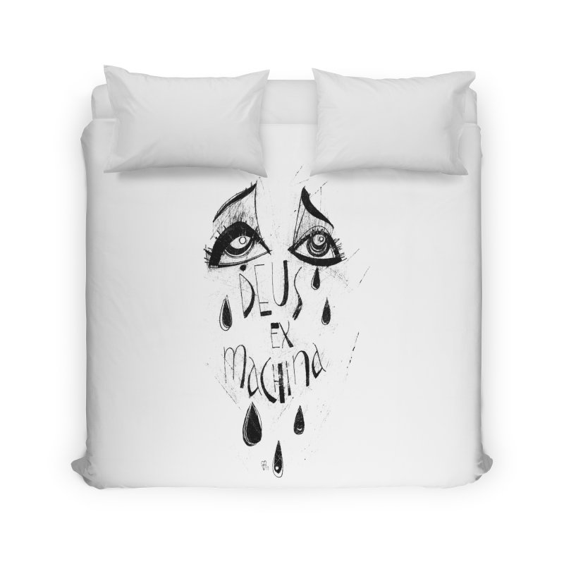 Deus Ex Machina (white) Home Duvet by ilustramar's Artist Shop