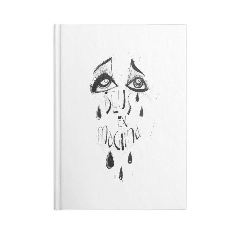 Deus Ex Machina (white) Accessories Blank Journal Notebook by ilustramar's Artist Shop