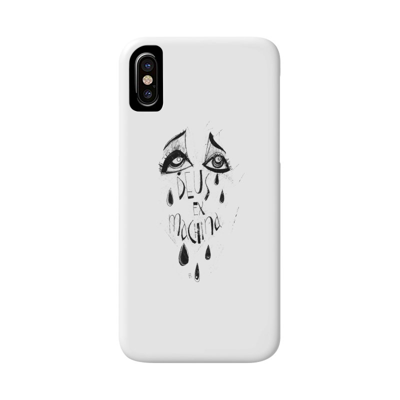 Deus Ex Machina (white) Accessories Phone Case by ilustramar's Artist Shop