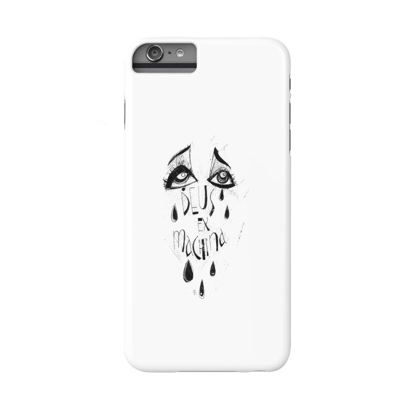 Deus Ex Machina (white) Accessories Phone Case by ilustramar's Artist Shop