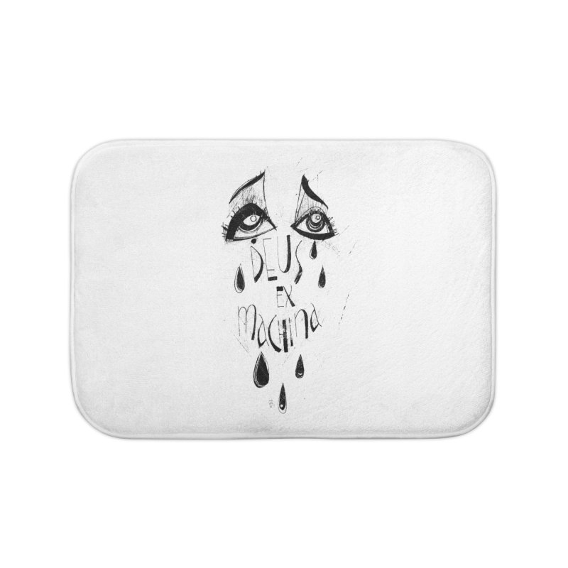 Deus Ex Machina (white) Home Bath Mat by ilustramar's Artist Shop