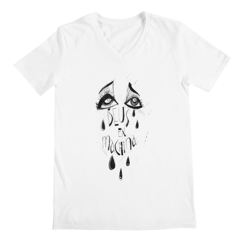 Deus Ex Machina (white) Men's V-Neck by ilustramar's Artist Shop