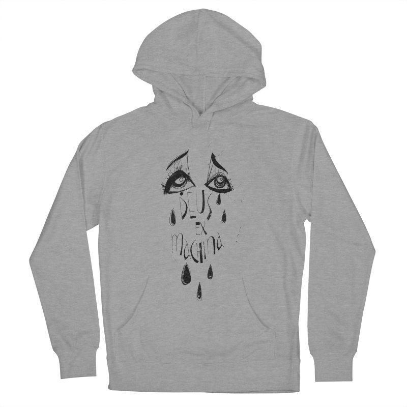 Deus Ex Machina (white) Women's French Terry Pullover Hoody by ilustramar's Artist Shop