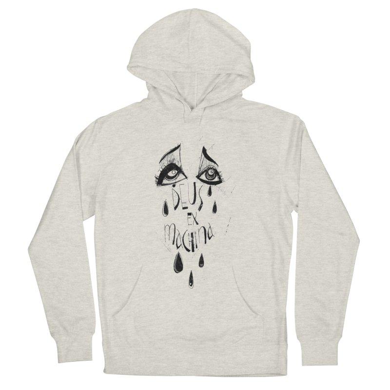 Deus Ex Machina (white) Men's French Terry Pullover Hoody by ilustramar's Artist Shop