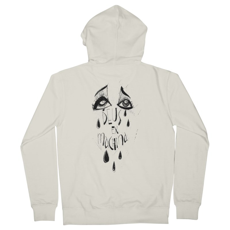 Deus Ex Machina (white) Women's French Terry Zip-Up Hoody by ilustramar's Artist Shop