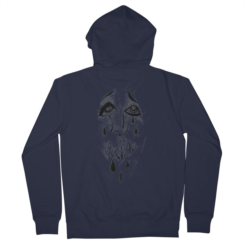 Deus Ex Machina (white) Women's French Terry Zip-Up Hoody by ilustramar's Artist Shop
