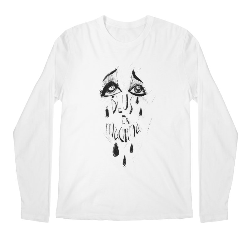 Deus Ex Machina (white) Men's Regular Longsleeve T-Shirt by ilustramar's Artist Shop