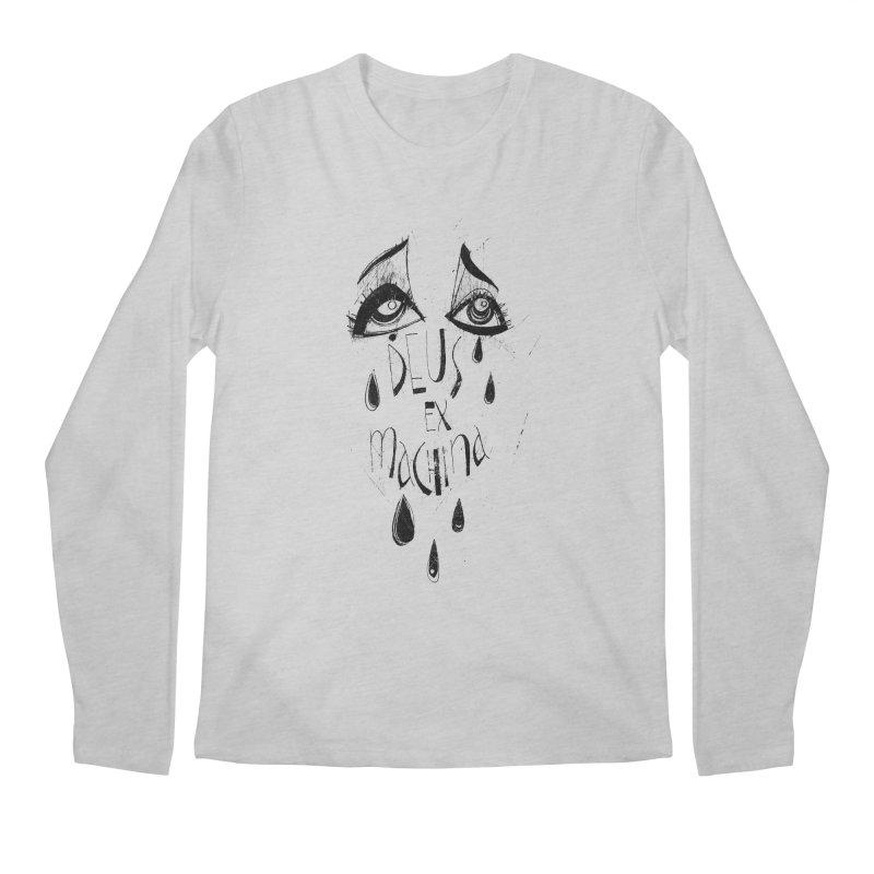 Deus Ex Machina (white) Men's Longsleeve T-Shirt by ilustramar's Artist Shop