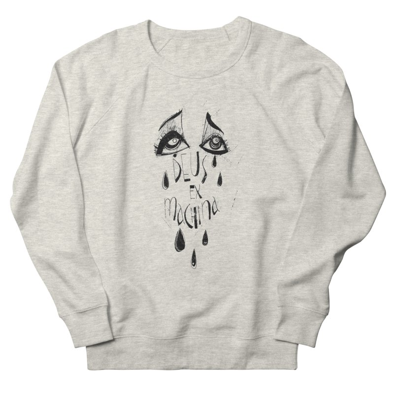 Deus Ex Machina (white) Women's French Terry Sweatshirt by ilustramar's Artist Shop