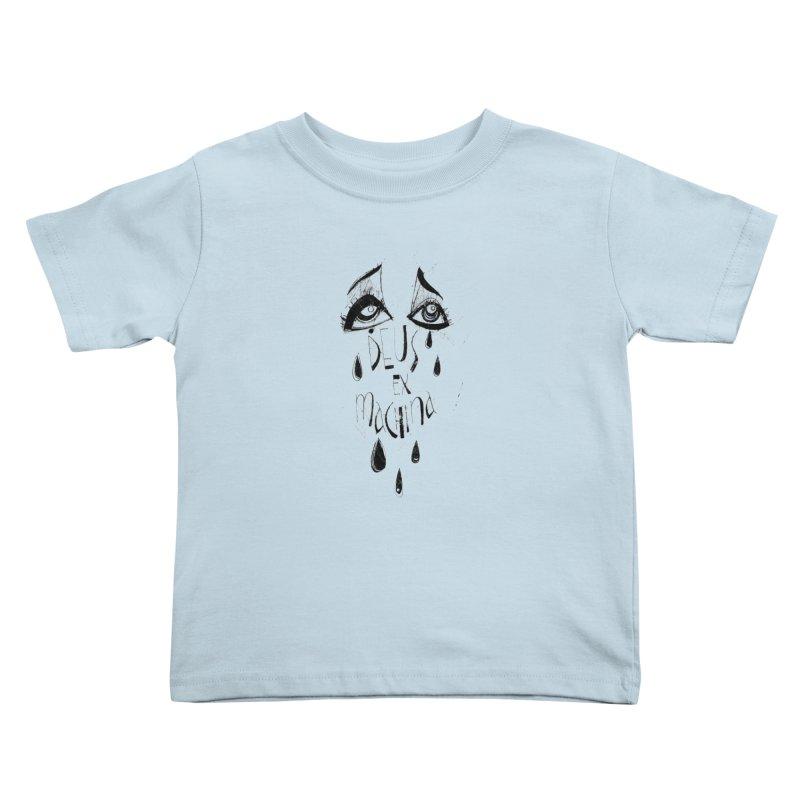 Deus Ex Machina (white) Kids Toddler T-Shirt by ilustramar's Artist Shop