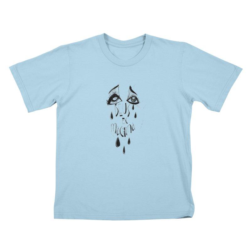 Deus Ex Machina (white) Kids T-Shirt by ilustramar's Artist Shop