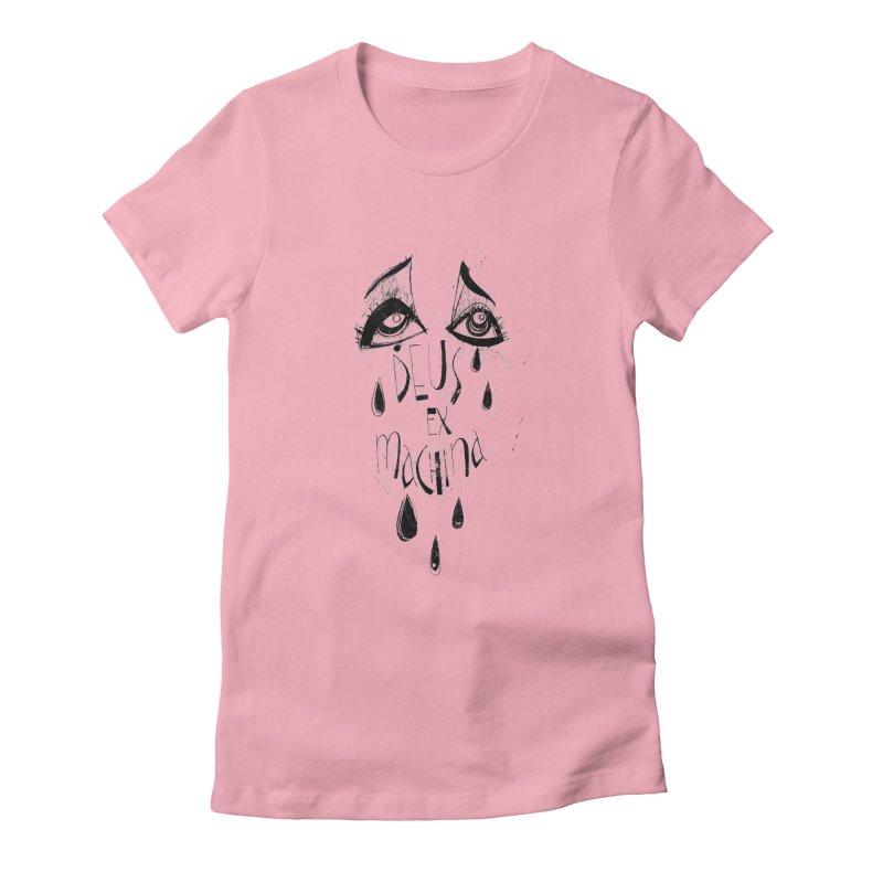 Deus Ex Machina (white) Women's Fitted T-Shirt by ilustramar's Artist Shop