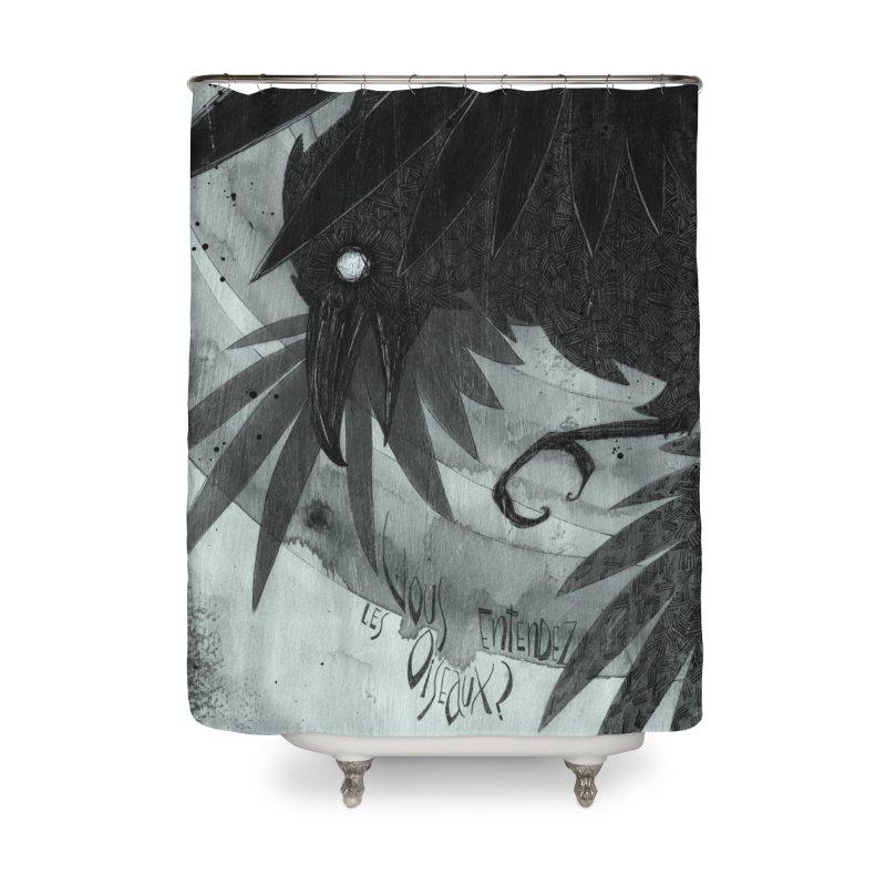 Oiseaux Home Shower Curtain by ilustramar's Artist Shop
