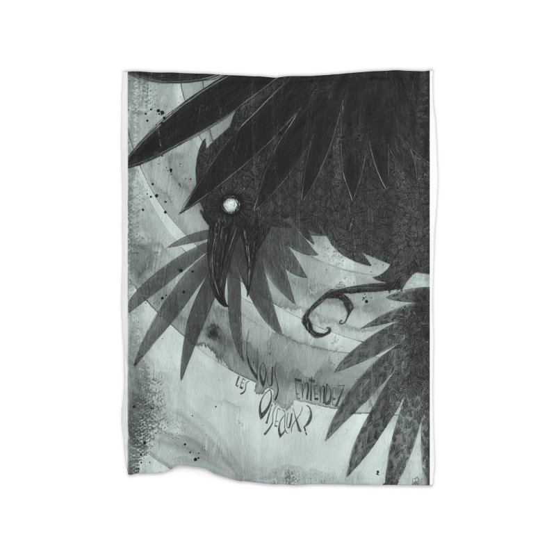 Oiseaux Home Blanket by ilustramar's Artist Shop