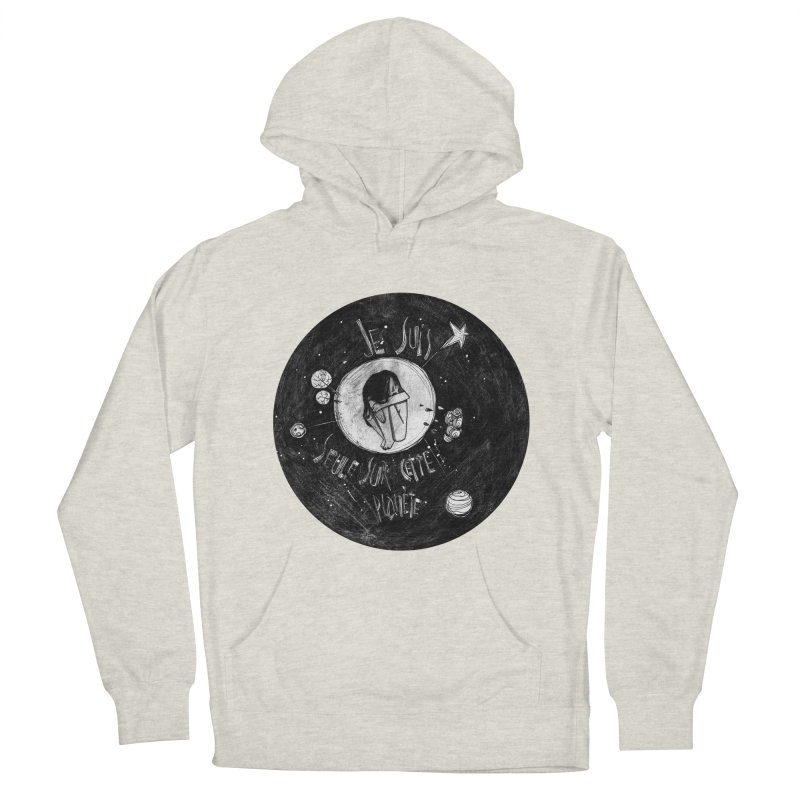 Planète (circle) Women's French Terry Pullover Hoody by ilustramar's Artist Shop
