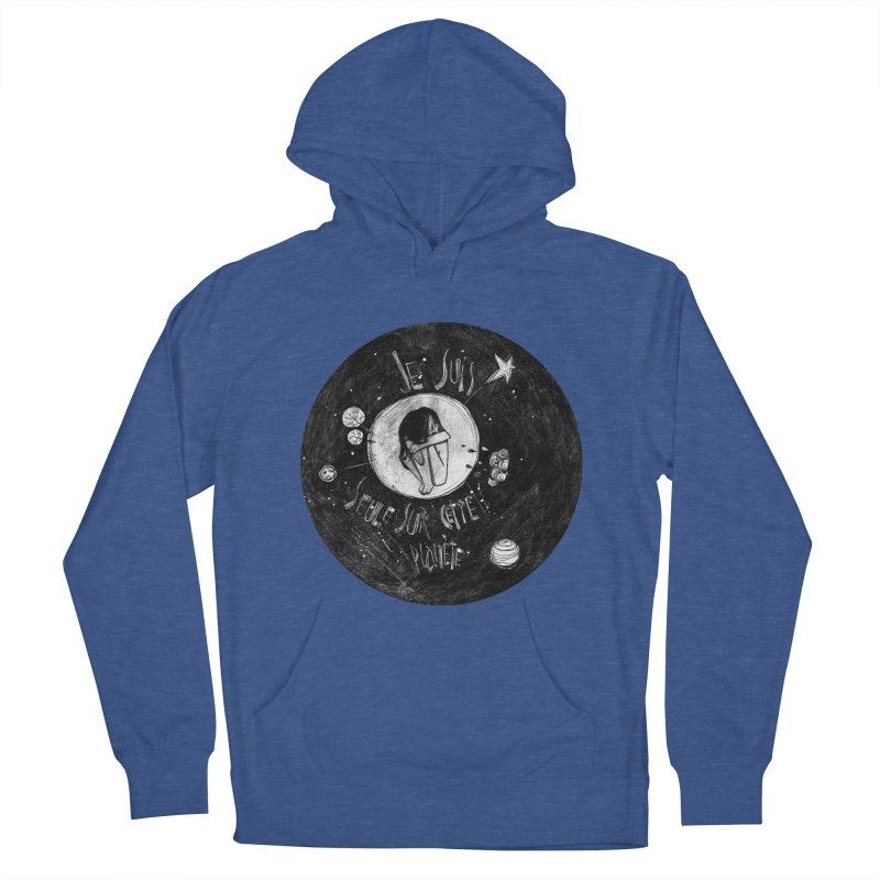 Planète (circle) Men's French Terry Pullover Hoody by ilustramar's Artist Shop