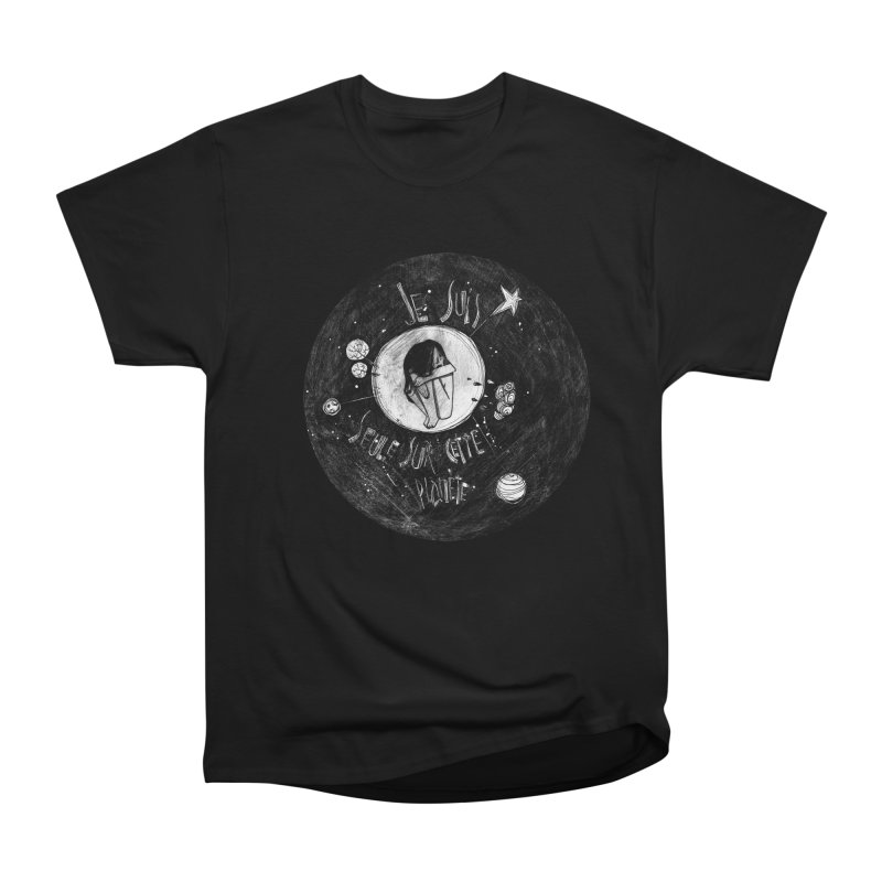 Planète (circle) Women's Heavyweight Unisex T-Shirt by ilustramar's Artist Shop
